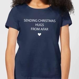 Sending Christmas Hugs From Afar Women's T-Shirt - Navy