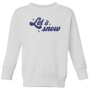 Let It Snow Kids' Sweatshirt - White