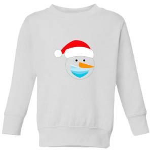 Covid Snowman Kids' Sweatshirt - White