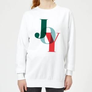 Graphical Joy Women's Sweatshirt - White