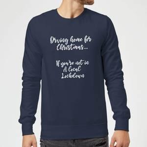 Driving Home For Christmas Sweatshirt - Navy