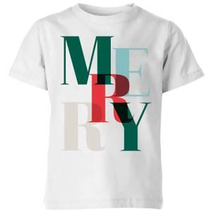 Graphic Merry Kids' T-Shirt - White