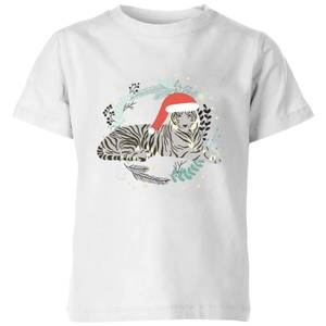 Snow Tiger Kids' T-Shirt - White