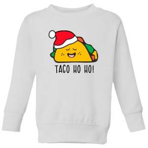 Taco Ho Ho! Kids' Sweatshirt - White