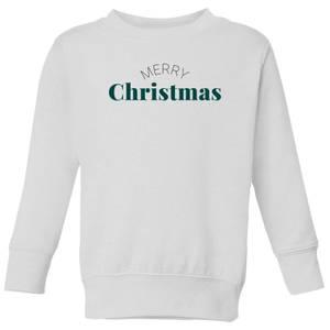Merry Christmas Kids' Sweatshirt - White