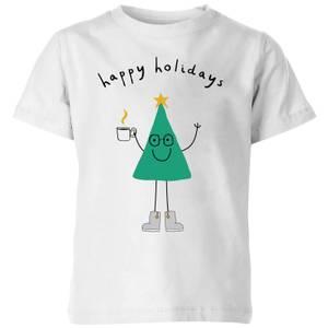 Happy Holidays Kids' T-Shirt - White