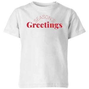 Season's Greetings Kids' T-Shirt - White