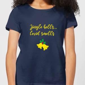 Jingle Bells Covid Smells Women's T-Shirt - Navy