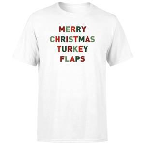 Merry Christmas Turkey Flaps Men's T-Shirt - White