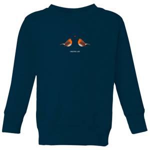 Christmas Love Kids' Sweatshirt - Navy
