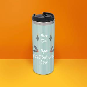 9am Tea 5pm Mulled Wine Stainless Steel Thermo Travel Mug