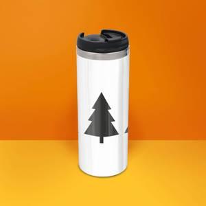 Christmas Trees Stainless Steel Thermo Travel Mug