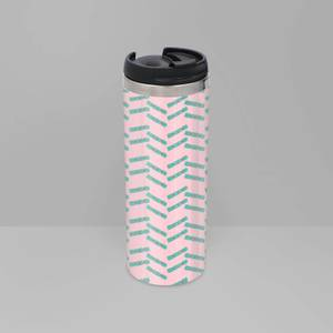 Cracker Stripes Stainless Steel Thermo Travel Mug