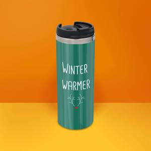 Winter Warmer Stainless Steel Thermo Travel Mug