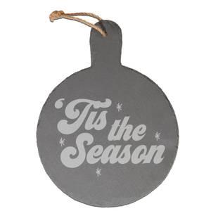 Tis The Season Engraved Slate Cheese Board