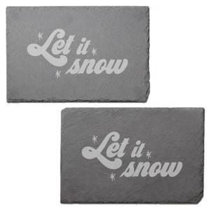Let It Snow Engraved Slate Placemat - Set of 2