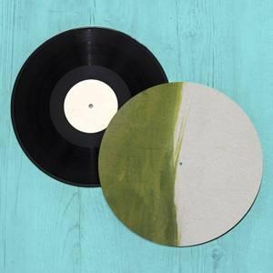 Green Paint Ombre Slip Mat