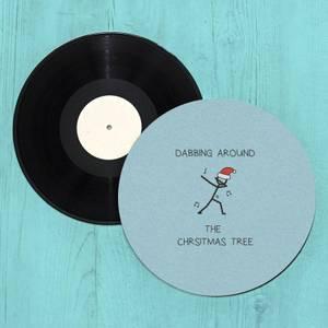 Dabbing Around The Christmas Tree Slip Mat