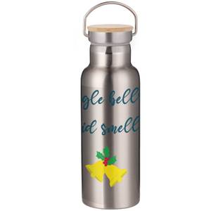 Jingle Bells Covid Smells Portable Insulated Water Bottle - Steel