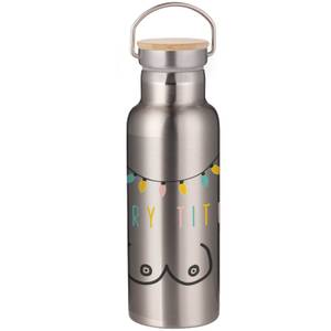 Merry Titmus Portable Insulated Water Bottle - Steel