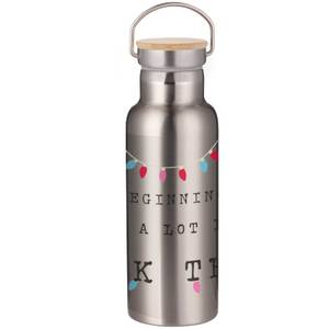 It's Beginning To Feel A Lot Like ..... Portable Insulated Water Bottle - Steel