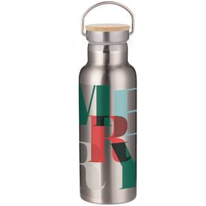 Merry Portable Insulated Water Bottle - Steel
