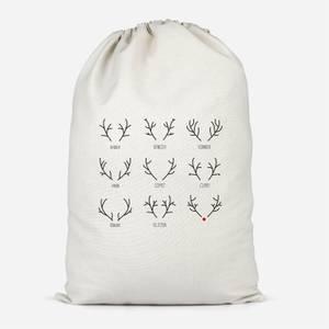 Reindeer Names Santa Sack
