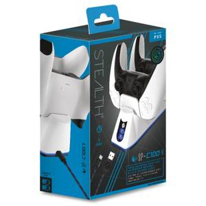 PS5 Twin USB Charging Dock & Play & Charge Cable - White