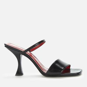 BY FAR Women's Nayla Leather Heeled Mules - Black