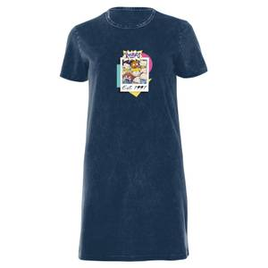 Nickelodeon Rugrats Women's T-Shirt Dress - Navy Acid Wash