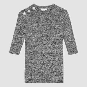 Ganni Women's Melange Knit Jumper - Black