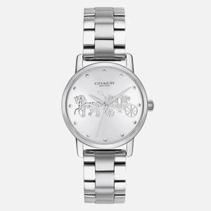 Coach Women's Grand Metal Strap Watch - Silver