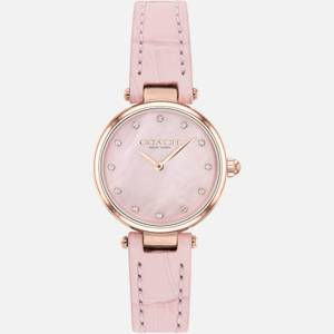 Coach Women's Park Leather Strap Watch - Pink