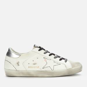 Golden Goose Deluxe Brand Women's Superstar Leather Trainers - Ice/White/Silver