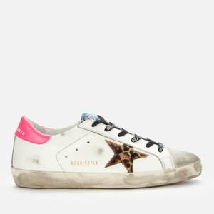 Golden Goose Deluxe Brand Women's Superstar Leather Trainers - Ice/White/Leopard