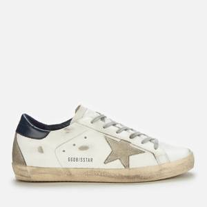 Golden Goose Deluxe Brand Women's Superstar Leather Trainers - White/Ice/Night Blue