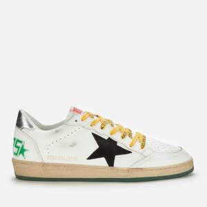 Golden Goose Deluxe Brand Men's Ball Star Leather Trainers - White/Black/Green