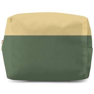 Split Colour Green Wash Bag