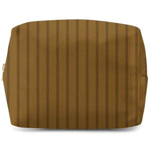 Stripe Brown Wash Bag