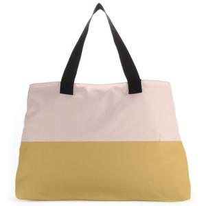 Split Colour Mustard Large Tote Bag