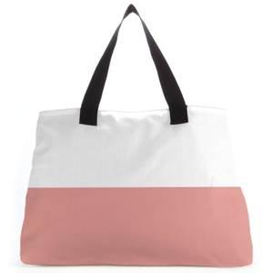 Split Colour Pink Large Tote Bag
