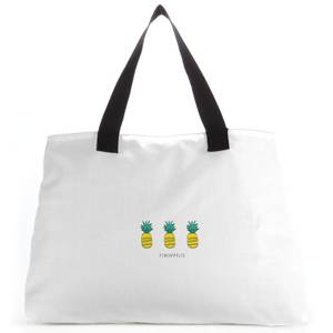 Pineapples Large Tote Bag