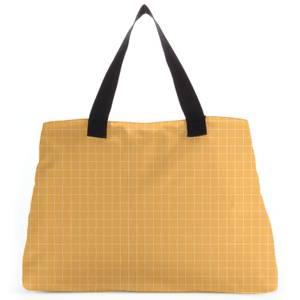 Yellow Check Large Tote Bag