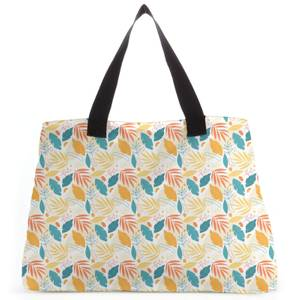 Leaf Patten Large Tote Bag