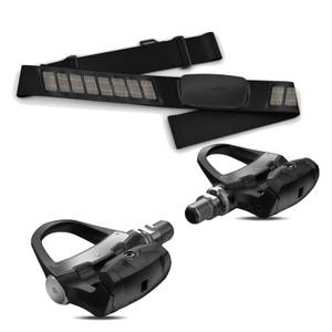 Garmin Vector 3 Double Sided Power Meter Pedals and Dual Heart Rate Monitor Bundle
