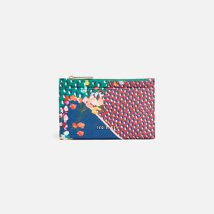 Ted Baker Women's Hassiee Peppermint Saffiano Zipped Credit Card Holder - Navy