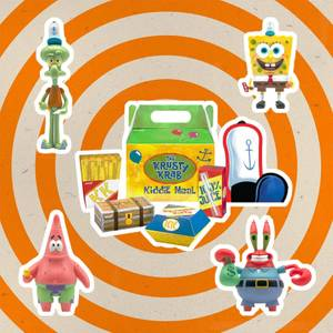 Super7 SpongeBob SquarePants ReAction Action Figure 4-Pack