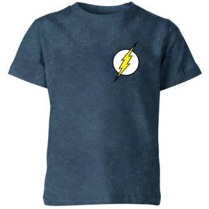 Flash Gordon Kids' T-Shirt - Navy Acid Wash