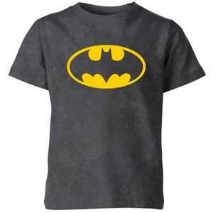 Batman Logo Kids' T-Shirt - Black Acid Wash