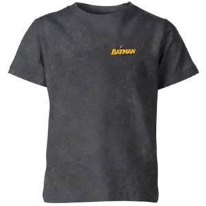 Batman Logo Pocket Kids' T-Shirt - Black Acid Wash